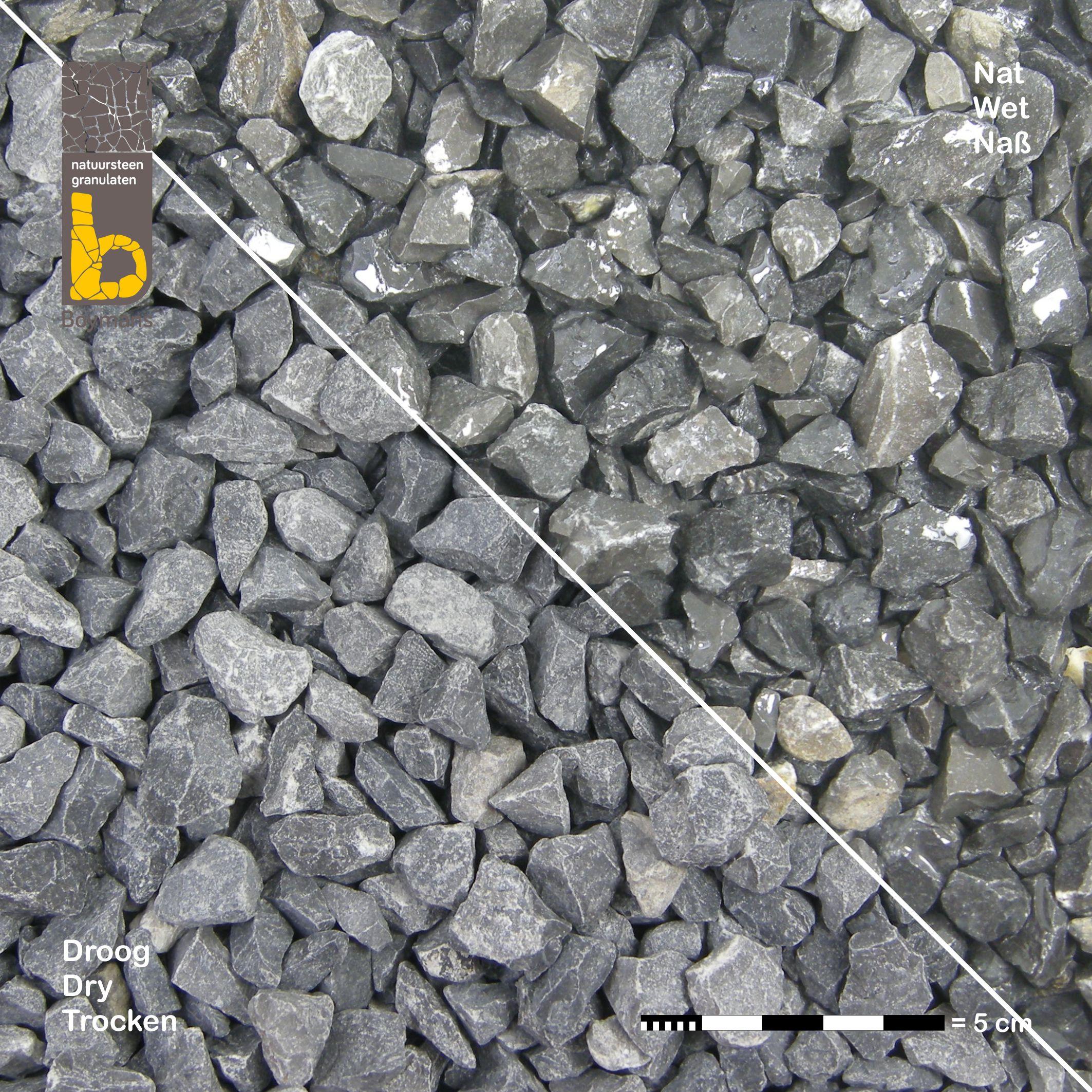 Granit hellgrau Splitt 16//32 mm Pfeffer Salz Splitt
